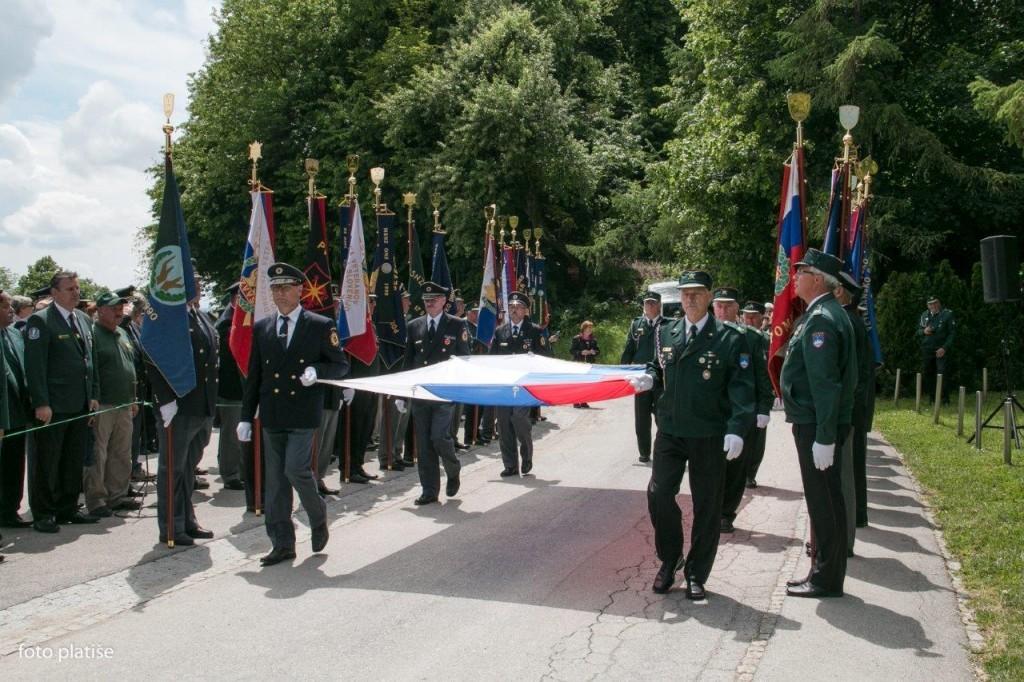 Slovesnost ob dnevu vojnih veteranov 1991